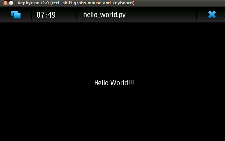 Hello World on Emulator